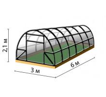 ТЕПЛИЦЫ ИЗ ПОЛИКАРБОНАТА Ширина 3,0 м, Высота 2,0 м, Длина 4,0 м