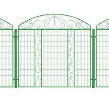 Комбинированный забор из сварной сетки