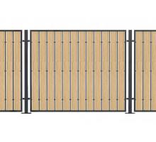 Комбинированный забор из тераснной доски