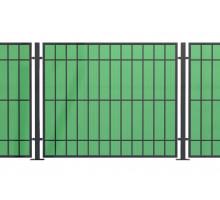 Комбинированный забор из поликарбоната и проф.труб