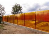 Забор из поликорбоната