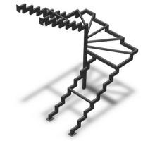 Забежные лестницы с поворотом на 90 или 180 градусов