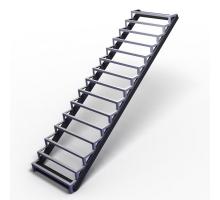 Металлический каркас лестницы Прямой