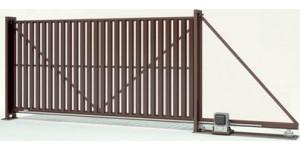 Процесс установки откатных ворот