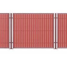 Комбинированный забор из штакетника