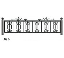 Ограда КО-6 : Стоимость: 2700 руб./м.пог.