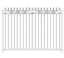 Забор Базовый №5 - 1 470 р/м2.