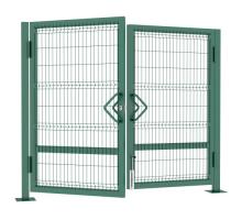 Ворота распашные БЮДЖЕТ для ограждений 3D