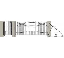 Кованые ворота откатные с Дугой 8