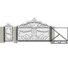 Кованые ворота откатные с Дугой 9
