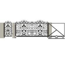 Кованые ворота откатные с Дугой 10