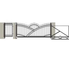 Кованые ворота откатные с Дугой 6