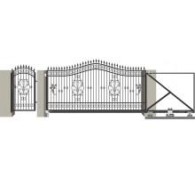 Кованые ворота откатные с Дугой 7