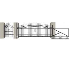 Кованые ворота откатные с Дугой 1