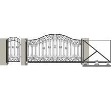 Кованые ворота откатные с Дугой 11