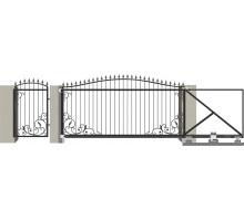 Кованые ворота откатные с Дугой 2