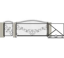 Кованые ворота откатные с Дугой 5