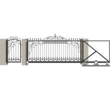 Кованые ворота откатные с Дугой 4