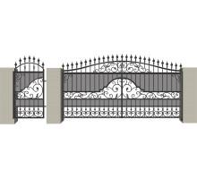 Распашные кованые ворота №3