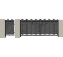 Распашные кованые ворота №4