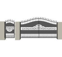 Распашные кованые ворота №5